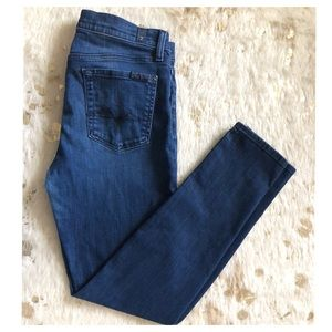 "7 For All Mankind ""slim cigarette"" skinny jeans"